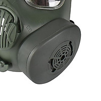 Protective Mask, Safety Full Face Eye Protection Dummy Toxic Gas Mask with Adjustable Strap for BB Gun CS Cosplay Costume Halloween