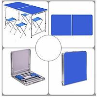 Bộ bàn ghế ăn gấp gọn đa năng cao cấp du lịch, bàn học, bàn làm việc hợp kim nhôm