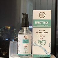 Xịt diệt khuẩn không khí, đồ vật, tay Nano Tech 50ml