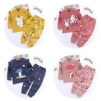 2 Cái/bộ Trẻ Em T Áo Sơ Mi Và Dài Bé Trai Bé Gái Áo Sơ Mi Tay Áo T-Shirt Dài Tay Trẻ Em Tops & Quần Cậu Bé Đồ Ngủ
