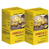 Combo 2 Hộp Thực Phẩm Chức Năng Viên Nang Mềm Dầu Cá Hồi Omega 3 Sirio Pharma (100 viên)