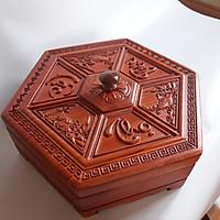 Khay đựng bánh kẹo Tết bằng gỗ - Hộp đựng mứt gỗ Hương ta KH01
