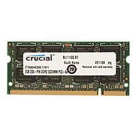 Ram Laptop Crucial 2GB DDR2 bus 800MHz PC 6400 - Hàng chính hãng