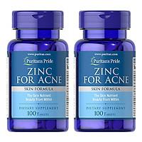 Combo 2 lọ Thực phẩm bảo vệ sức khỏe Zinc for Acne (kẽm hỗ trợ điều trị mụn)