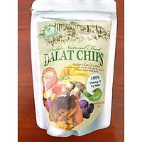 Thập cẩm sấy giòn Dalat Natural Food bịch 100Gr, Đặc sản Đà Lạt, không đường, sấy tự nhiên, không chất bảo quản, Có thể sử dụng cho người ăn chay, ăn kiêng, thực dưỡng