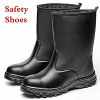 Giày bốt đi mưa chất liệu da cho nam