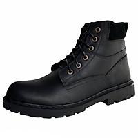 Giày Boots Nam Cổ Cao Da Bò Thật 100% Cao Cấp HN612 Đen Size 38 - 44