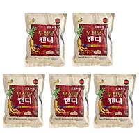 Combo 5 gói Kẹo hồng sâm không đường cao cấp Sugar Free Red Ginseng Candy 500g - Hàn Quốc