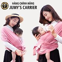 Địu vải Jumy, địu em bé bằng cotton cao cấp siêu dịu nhẹ, thoáng mát khi tiếp xúc với làn da trẻ nhỏ - Màu hồng