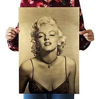 Hot Marilyn Monroe Vintage Kraft Paper Poster Art Fashion B Style Movie