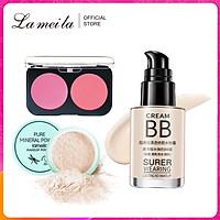 Bộ trang điểm cá nhân 3 món LAMEILA Kem BB +phấn má + Phấn phủ bột