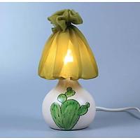 Đèn xương rồng Gốm Sứ Bát Tràng trang trí nội thất, đèn để bàn phòng ngủ hàng chính hãng.