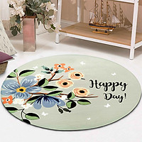 Thảm tròn DTP in hình Happy Day Carmi (100 x 100 cm)
