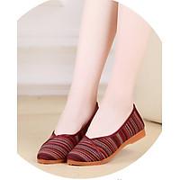 Giày búp bê nữ vải siêu xinh đi êm chân cao 2.5cm V226