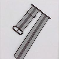 Dây đeo cho đồng hồ Apple Watch Woven Nylon màu sọc nâu xám - 38/40mm
