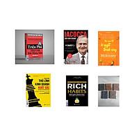 Combo 4 cuốn sách :Triệu phú môi giới bất động sản + Iacocca – Đời kinh doanh, Bí mật phía sau thành công của ông trùm xe hơi nước Mỹ  + Rich Habits + Để trở thành thủ lĩnh kinh doanh xuất sắc ( tặng kèm cuốn mckinsey+ sổ tay bìa da ngẫu nhiên+bookmark)