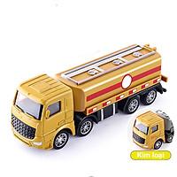 Đồ chơi mô hình xe chở xăng dầu KAVY NO.8809 chất liệu hợp kim và nhựa nguyên sinh an toàn, chi tiết sắc sảo