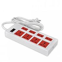 Ổ cắm Điện Quang ECO ĐQ ESK 5WR 8ECO (8 Lỗ, dây dài 5m, màu trắng đỏ)