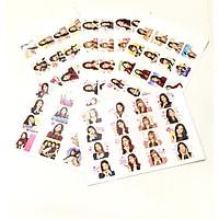Sticker dán BTS combo 5 bảng 80 ảnh