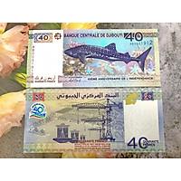 Tiền Djibouti mệnh giá lạ 40 Francs , mới 100% UNC, tặng túi nilon bảo quản