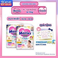 Combo 2 Tã/bỉm quần Merries size M - 58 miếng (Cho bé 6 - 11kg)