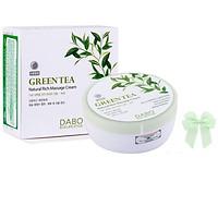 Kem massage mát xa căng cơ mặt chiết xuất trà xanh thảo dược Dabo Hàn quốc ( 200ml) và nơ