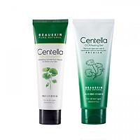 Cặp đôi sữa rửa mặt kháng khuẩn và tẩy da chết tái tạo phục hồi Centella Cica