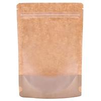 1 Kg túi giấy Kraft zipper mặt giấy mặt trong đáy đứng 15x22cm