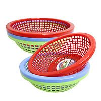 Combo 6 Rổ nhựa tròn 23cm Chấn Thuận Thành đựng đồ đạc, đựng thực phẩm rau củ đa năng tiện lợi hàng Việt Nam chất lượng cao RC2320-6 (nhiều màu)