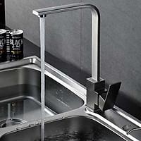 Vòi rửa chén nóng lạnh thân vuông inox304