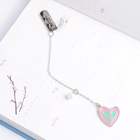 Bookmark kim loại mặt dây chuyền đính ngọc trai sáng tạo - Trái tim