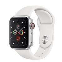 Đồng Hồ Thông Minh Apple Watch Series 5 LTE GPS + Cellular Aluminum Case With Sport Band (Viền Nhôm & Dây Cao Su) - Hàng Chính Hãng VN/A