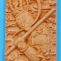 Mặt gỗ hoàng đàn khắc hình Tôn Ngộ Không MG41