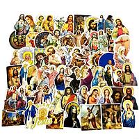 Sticker 68 miếng hình dán Chúa Jesus - hàng nhập khẩu