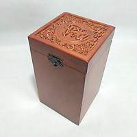 Hộp đựng chè gỗ HƯƠNG Chữ PHÚC VUÔNG