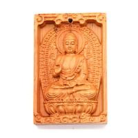Mặt Phật gỗ ngọc am A Di Đà