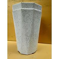 Combo 2 chậu trồng cây cảnh hoa văn vân đá cao 40 cm, đường kính 30 cm