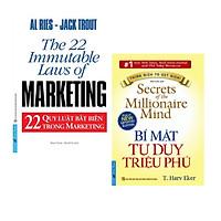 Combo sách Làm giàu: Bí mật tư duy triệu phú + 22 quy luật bất biến trong marketing ( Tặng kèm bookmark Thiết kế)