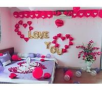 Bóng Trang Trí Phòng Cưới Phòng Tân Hôn , BÓNG I LOVE YOU tỏ tình, cầu hôn -  Tặng bơm tay, băng dính