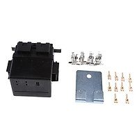 2 Way Circuit Automotive Relay Blade Fuse Box Holder Kits Insurance Panel