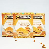 Combo 3 hộp thực phẩm chức năng Viên tinh bột nghệ mật ong VCURMIN Viện Khoa Học Công Nghệ (450g)