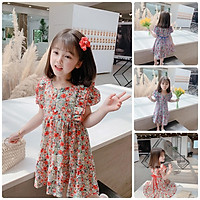 VT57Size90-130 (9-27kg)Váy đầm xoè bé gái - Kiểu dáng công chúaThời trang trẻ Em hàng quảng châu