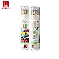 Bút chì màu Oringa | Bút chì màu chuyên nghiệp dạng cốc Hồng Hà 18 màu - 8109