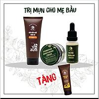 Combo Dưỡng Da Mụn Cho Mẹ Bầu Và Sau Sinh Wonmom + Tặng Scrub Nghệ Tẩy Tế Bào Chết Wonmom