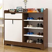 Tủ giày dép gỗ 2 cánh 4 ngăn cao cấp decor nội thất đẹp - Kệ để giày tiết kiệm diện tích - Giao màu ngẫu nhiên