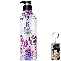 Dầu gội nước hoa Kerasys Elegence & Sensual hương violet và xạ hương Hàn Quốc 600ml + Móc khoá
