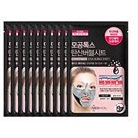 Combo 10 Mặt nạ sủi bọt thải độc làm sạch da và se khít lỗ chân lông Mediheal Mogongtox Soda Bubble Sheet 18ml x10
