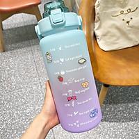 2L Lớn Bình Nước Dễ Thương Có Ống Hút Cho Bé Gái Thể Thao Nhiệt Drinkware Du Lịch Lsotherm Bình Kid Nước Uống Bầu Tập Gym cốc Nhựa