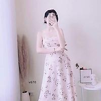 Đầm váy voan 2 lớp hai dây cho nữ
