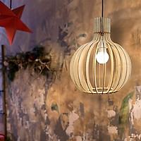 Đèn gỗ dáng củ tỏi